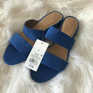 A New Day Women's Blue Kyrielle Slide Sandals